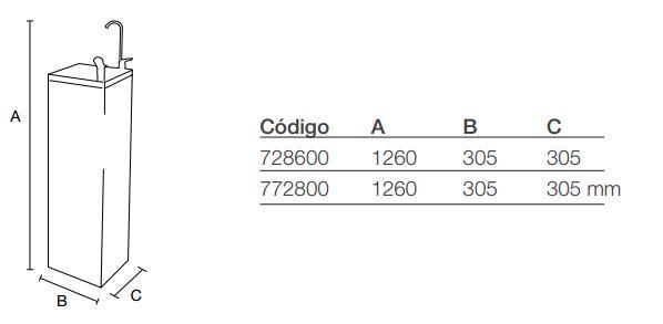 Resultado de imagen de fuente columbia fc-1800f medidas
