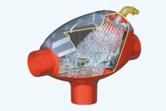 Filtro interno para depósito de agua