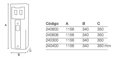 fuente agua FC-2203 medidas