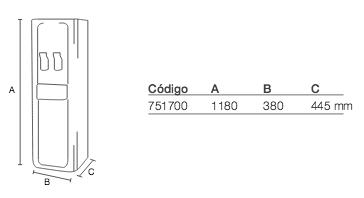 fuente FC-1200 ROP medidas