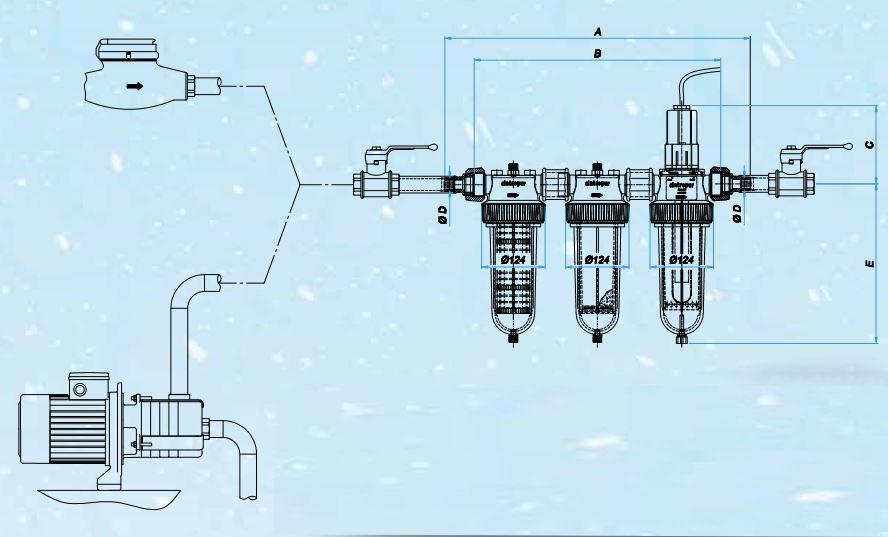 filtro-agua-trio-uv-instalacion-esquema