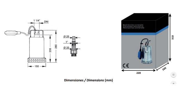 bomba-achique-sx50-dimensiones