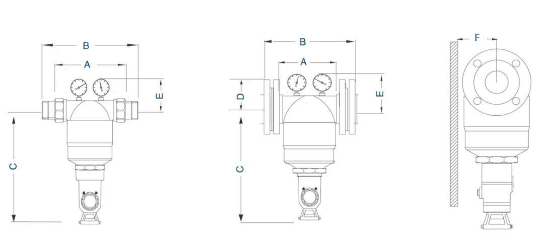 Filtro Agua EASYMAX PLATA automático medidas