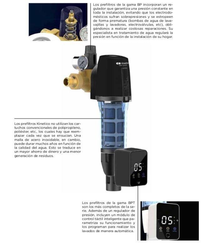 Filtros autolimpiantes Kinetico funcionamiento 2