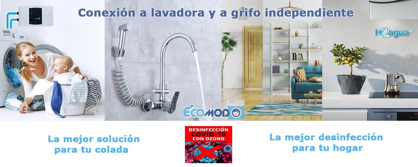 ecomodo conexion a lavadora y a grifo desinfeccion covid19