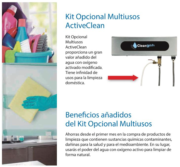 ozonizador agua cleanwater kit multiusos