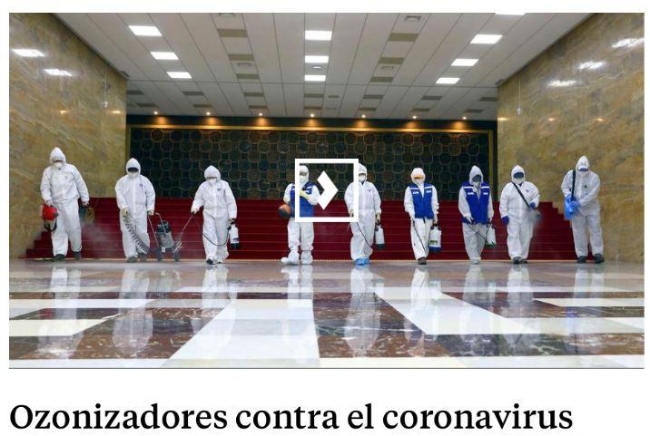 ozonizador contra coronavirus desinfectar